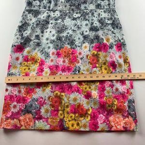 Talbots Dresses - Talbots Womens Dress 14 Gray Floral Sheath A71-14P